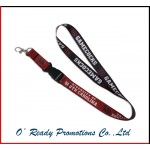 Red and Black Promotional Lanyard