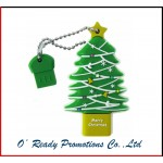 Custom Slicon Christmas Tree USB Flash Disk
