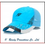 Blue Mesh Baseball Cap Fast Dry Customized with Logo