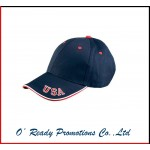 Adams 6 Panel Mid-Profile Cap with USA Embroidery